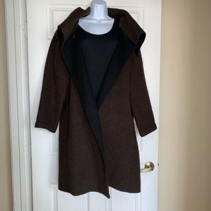 Eileen Fisher baby alpaca wool coat XL XXL